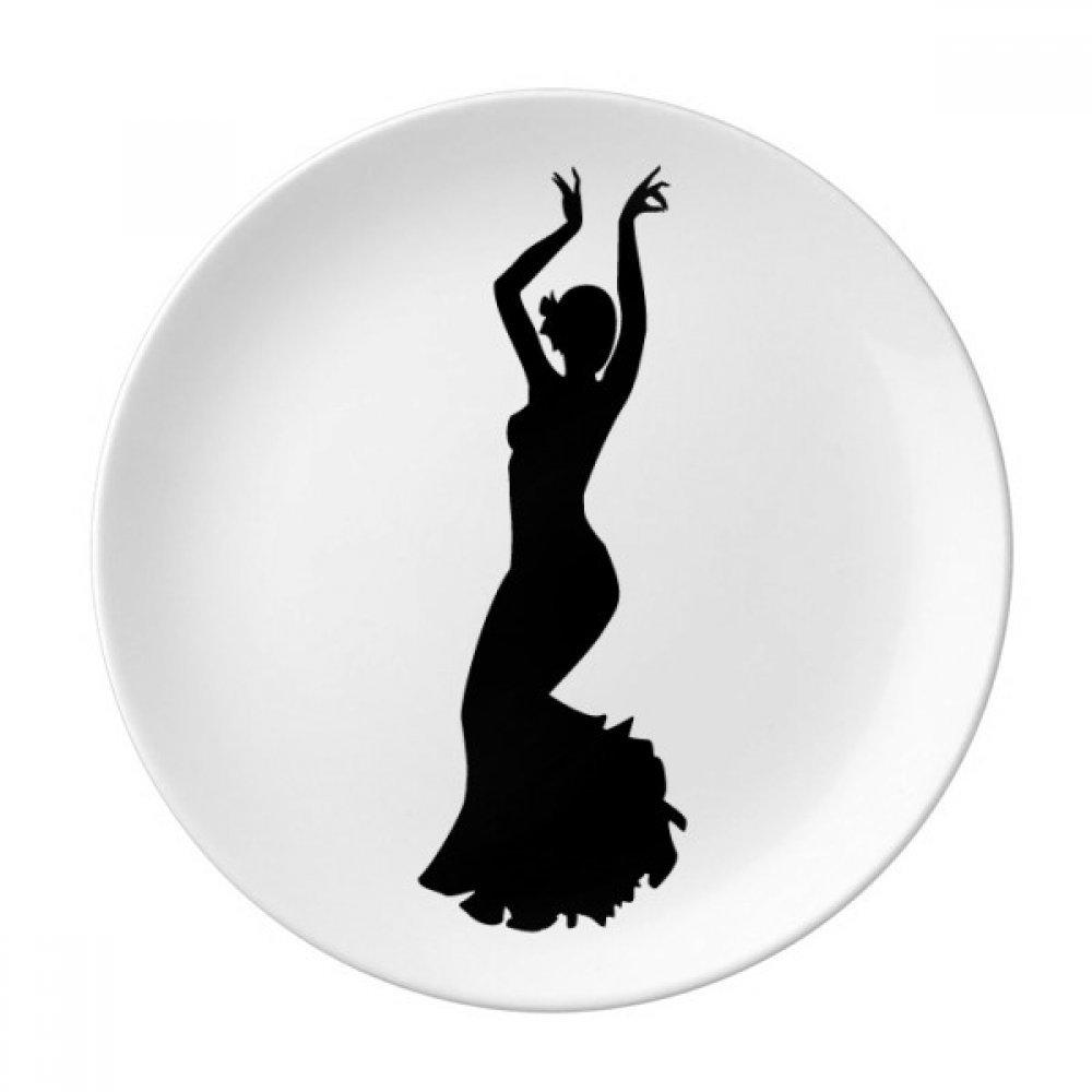 Performance Dancer Folk Dance Art Dessert Plate Decorative Porcelain 8 inch Dinner Home