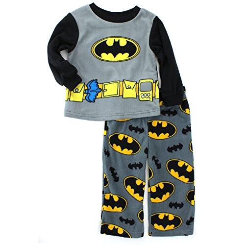 Batman Toddler Black Fleece Pajamas (2T) (Batman For Toddlers)