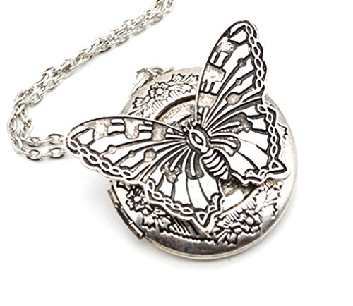 Stunning - BOHO - Essential Oil Diffuser Butterfly Locket Necklace - - Chakra - EO - butterflys3