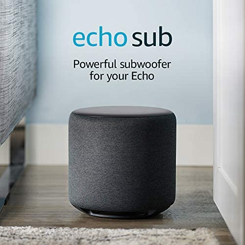 Echo Sub Powerful subwoofer compatible