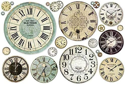 Hobby Colors Rice Paper Clock Stamperia Rice Decoupage A3