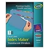 Avery 12452 Index Maker Translucent Dividers with Clear Labels