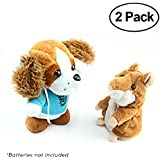 WeFidget Talky Pet's Talking Hamster and Talking Dog Plush Toys, Talking recording interactive toy