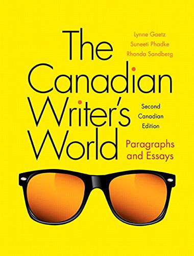 the canadian writers world paragraphs and essay