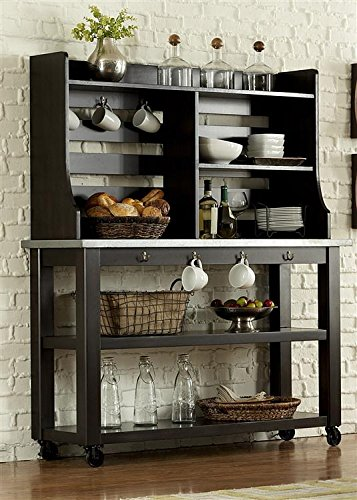 Liberty Furniture Keaton II Dining Server & Hutch, Charcoal Finish