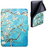 YOCOWOCO TPU Soft Case Cover for Kindle Paperwhite, PU leather Smart Shell Fits all Paperwhite Generations Prior to 2018( Not Fit All-New Kindle Paperwhite 10th Generation 2018), Apricot Tree