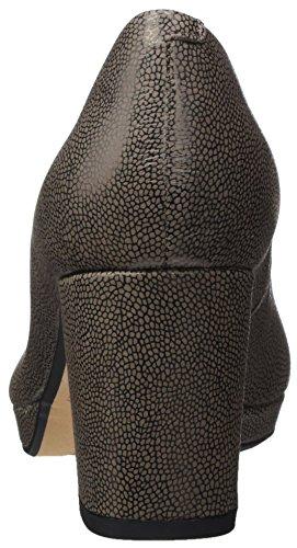 Noir Clarks 4 Taupe Kelda EU Hope Escarpins Leather Gris Femme 7IwBr1Iq