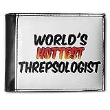 Wallet Worlds hottest Threpsologist, RFID Men's Bifold ID Case - Neonblond