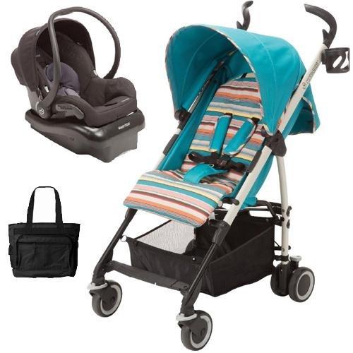 Maxi-Cosi - Kaia Travel System With Diaper Bag - Bohemian Blue Black