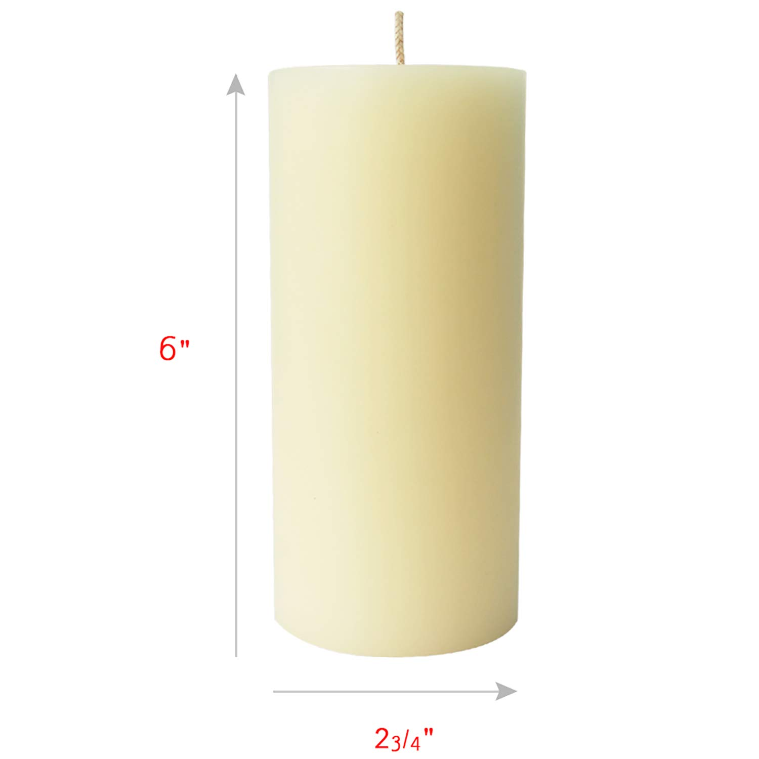Simply Soson 6 Ivory Pillar Candles 3x6 | unscented Pillar Candles | Dripless Pillar Candles Bulk (6 Pack) Code 2258 by Simply Soson (Image #1)