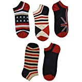 "SUSocks Ankle Socks ""5 Pairs"" No Show Cotton Socks For Men Liner Best Baseball"