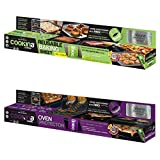Cookina Cuisine & Gard Non-Stick Cooking Sheet and Oven Protector Combo Pack, Tan