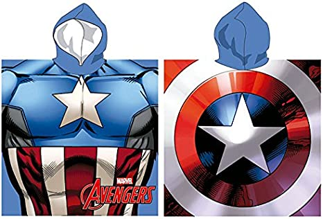 Set Super Held (Capitan America) Poncho Playa Microfibra 55 x 110 ...