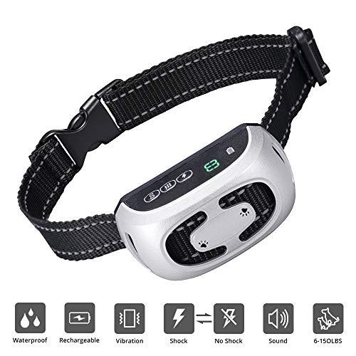 - Skywoo [Newest 2019] Dog Bark Collar Rechargeable, 9 Adjustable Sensitivity & 3 Stop Anti Barking Modes Anti bark Training Collar Waterproof No Barking Dog Collar for Small Medium Large Dogs