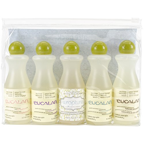 (Eucalan Fine Fabric Wash Gift-Pack , 5 Pieces Per Pack , 3.3ounces each Bottle )