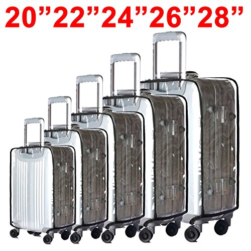 BlueCosto (Clear PVC) Travel Luggage Protector Suitcase Cover 28