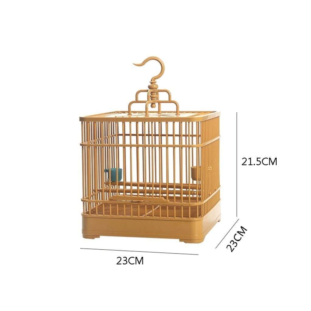 Conjunto Jaula de pájaros con comedero y Bebedero Pequeño Animal ...