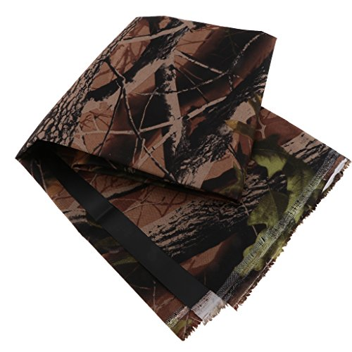 Homyl Heavy Duty Thick Camouflage PVC Waterproof Canvas Fabric 600D Outdoor Cover Materials Sold By Metre - 2#, 1 Meter