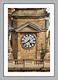 Clock Tower, City Hall, Cape Town, South Africa. by David Wall / Danita Delimont Framed Art Print Wall Picture, Flat Silver Frame, 31 x 43 inches
