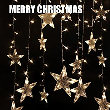 Festival Party Decorations Tree Lights Indoor And Outdoor String Lights 120  LEDs 10ft Long Five Pointed Star String Lights For Bedroom, Patio, Parties  Water ...