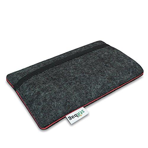 Stilbag Filztasche 'FINN' für Apple iPhone 5S - Farbe: anthrazit/lachs