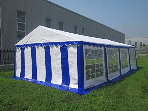 (American Phoenix Canopy Tent 16x26 foot Large White Party Tent Gazebo Canopy Commercial Fair Shelter Car Shelter Wedding Events Party Heavy Duty Tent- White)