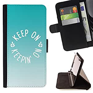 Momo Phone Case / Flip Funda de Cuero Case Cover - Mint Green Brown Summer - Sony Xperia M5
