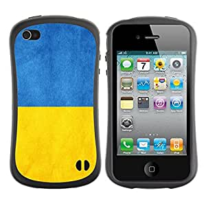 Paccase / Suave TPU GEL Caso Carcasa de Protección Funda para - Ukraine Flag - Apple Iphone 4 / 4S