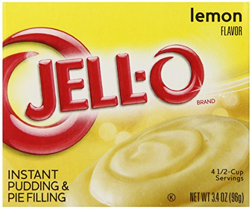 - Jell-O Instant Pudding and Pie Filling, Lemon, 3.4-Ounce Boxes (Pack of 6)