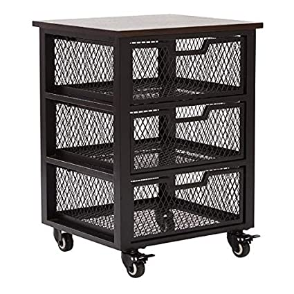 Genial Metal Frame Storage Drawer With Mesh Drawers   3 Drawer Storage Chest With  4 Castered