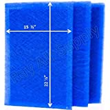 MicroPower Guard Replacement Filter Pads 17x25 Refills (3 Pack) BLUE