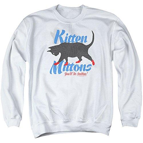 Sons of Gotham Its Always Sunny in Philadelphia - Kitten Mittons Adult Crewneck Sweatshirt 2XL