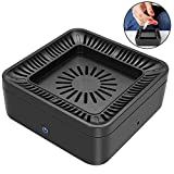 TMISHION Air Purifier Ashtray, Strong Suction Activated Carbon Filter, Interchangeable Filter Screen, Multifunctional Smokeless Ashtray for Home, PM2.5 dust, Pollen, Smoke and Odor