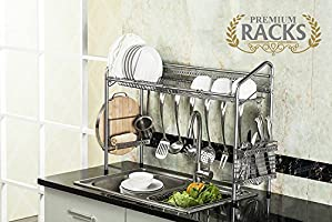 Premium Racks 2-Tier Professional Over The Sink Dish Rack