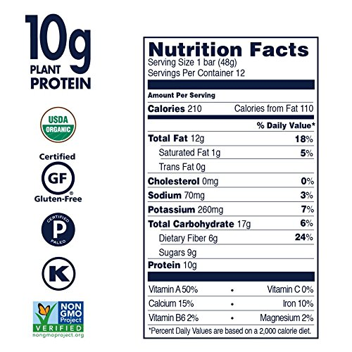 SHANTI BAR The Superfood Protein Bar, POWERHOUSE SPIRULINA - Crunchy Almond, 1.7 oz (Pack of 12) by SHANTI BAR (Image #2)