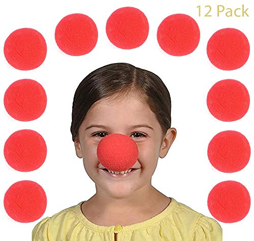 Red Foam Clown Nose - Pack of 12 2 inches Cool and Fun Clown Costume Nose - Novelty & Gag Toys, Party Favor, Party Bag Stuffer, Party, Gift Ideas- by -