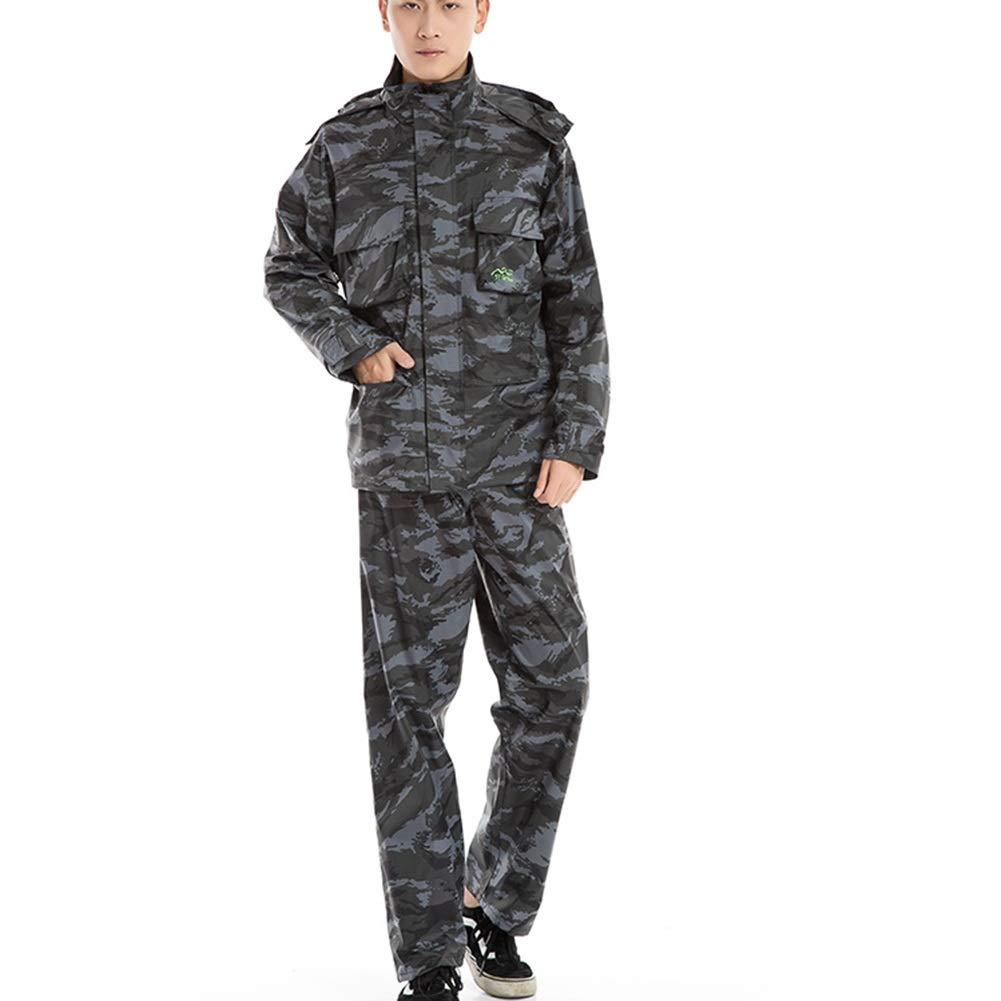 gris Camouflage XX-grand Combinaison Imperméable Combinaison De Pluie VêteHommests De Pluie Imperméable pour Hommes Et Femmes Adultes De Type Split en Plein Air ZHANGQIANG (Couleur   Beige, Taille   XL)
