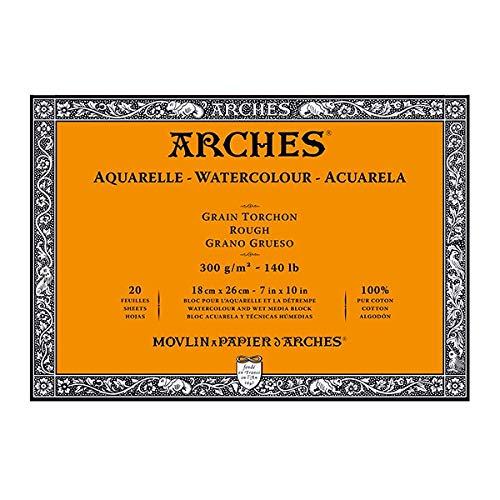 Arches 140 lb. Rough Block 7x10'' - Natural White