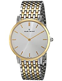 Claude Bernard Men's 20061 357JM AID Classic Gents - Slim Line Analog Display Swiss Quartz Two Tone Watch