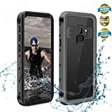 Effun Samsung Galaxy S9 Waterproof Case, IP68 Certified Waterproof Underwater Cover Dustproof Snowproof Shockproof Case for Galaxy S9 with Phone Stand, PH Test Paper and Floating Strap Black