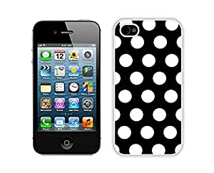 Polka Dot Black and White ,Speck Iphone 4 Case £¬Cute Iphone 4s Cases White Cover