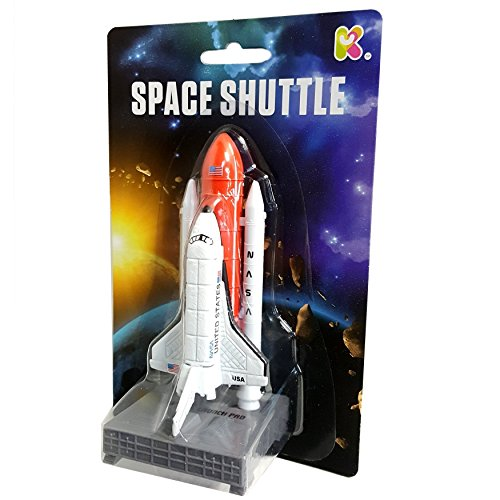 (Blue Frog Toys 12CM DIECAST Space Shuttle and Rocket)