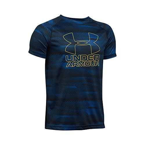 Boys Youth T-shirt - Under Armour Boys Big Logo Printed T-Shirt,Royal/Taxi, Youth Large