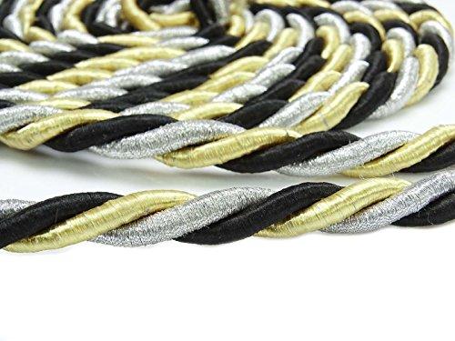Yds Lip Cord - Upholstery Trim Braided Lip Cord Curtain Tie Black Supply Braid Piping 1 Yds