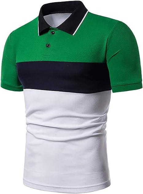 Camisa Polo de Solapa para Hombre,Polo con Costuras en 3 Colores ...