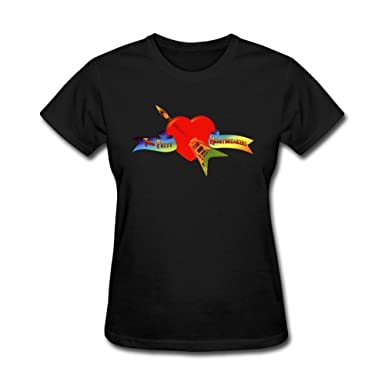 57572a3a8 Image Unavailable. Image not available for. Color: Gao-Tshirt Women's Black Tom  Petty and The Heartbreakers T-Shirt