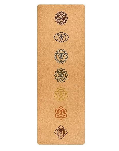 Wild Therapies - Esterilla de Yoga de Corcho con 7 símbolos ...
