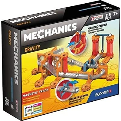 Geomag - MECHANICS GRAVITY TRACK - 115-Piece Building Set with Magnetic Motion, Certified STEM Marble Run Construction Toy for Ages 7 and Up: Toys & Games