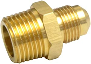 2 PCS Compression Metals Brass Couples Tube Fitting, Half-Union Gas Adapter, 3/8