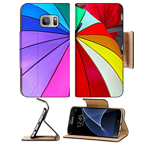 Liili Premium Samsung Galaxy S7 Flip Pu Leather Wallet Case All colors of rainbow at open parasol Image ID - Shade Station Discount